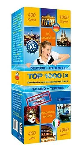 9783898317719: Top 1000 Teil 2. Deutsch-Italienisch / Italienisch-Deutsch: 400 Karteikarten