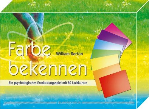9783898451857: Farbe bekennen: Ein psychologisches Entdeckungsspiel mit 80 Farbkarten