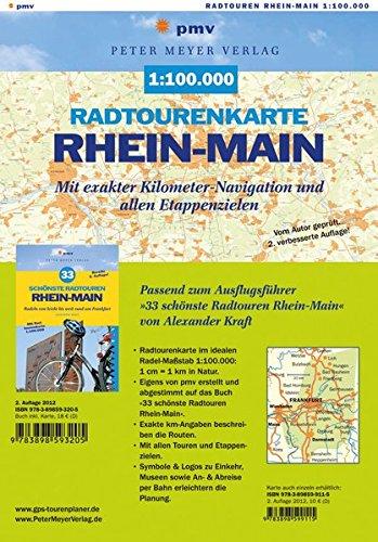 9783898599115: Radtourenkarte Rhein-Main 1:100.000: Mit exakter Kilometer-Navigation und allen Etappenzielen von »33 schönste Radtouren Rhein-Main«