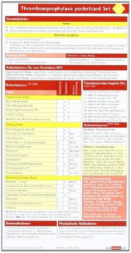 9783898620840: Thromboseprophylaxe pocketcard (2er Set)