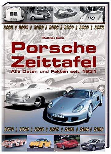 9783898808279: Porsche Zeittafel- Alle Daten und Fakten seit 1931;