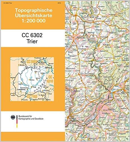 9783898889643: Topographische Übersichtskarte CC6302 Trier 1 : 200 000