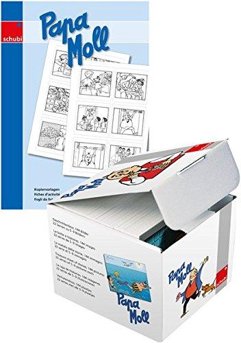Papa Moll: Bilderbox mit 10 Kopiervorlagen: Die Bilder der Box als Schwarz-Wei-Vorlagen