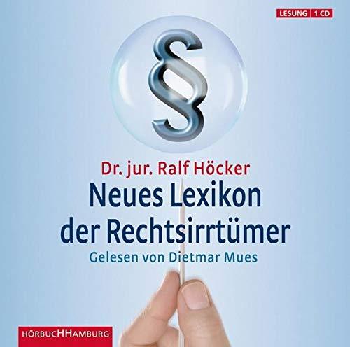 9783899034899: Neues Lexikon der Rechtsirrtümer