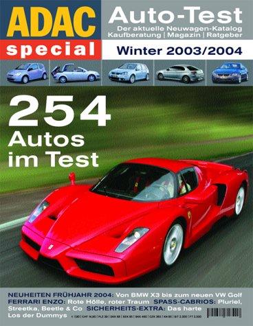 9783899051131: ADAC special Auto-Test 2004. Der aktuelle Neuwagen-Katalog. Winter 2003/2004.