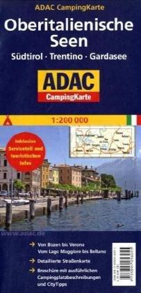 9783899058055: ADAC Campingkarte Oberitalienische Seen 1 : 200 000: Straßenkarte & Campingführer in einem! Südtirol - Trentino - Gardasee - Campingplätze & City Tipps