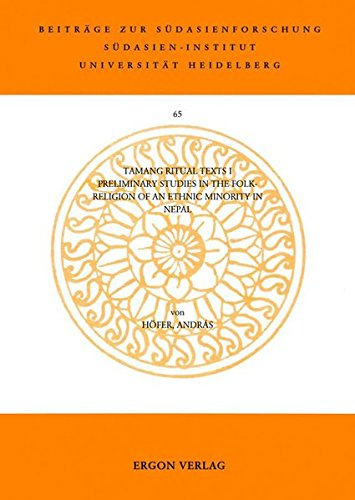 9783899130942: Tamang Ritual Texts: Preliminary Studies in the Folk-religion of an Ethnic Minority in Nepal (Beitrage Zur Sudasienforschung)