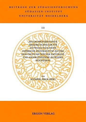 9783899131574 zielgruppenorientierte ernahrungspolitik fur entwicklungslander empirische sektoranalyse auf der basis okonometrischer nachfrage und - Entwicklungslander Beispiele