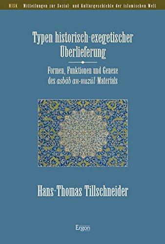 Typen historisch-exegetischer Überlieferung: Hans-Thomas Tillschneider