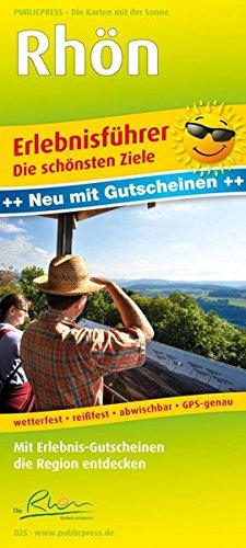 9783899200256: Erlebnisführer Rhön: Mit Informationen zu Freizeiteinrichtungen auf der Kartenrückseite, GPS-genau. 1:120000
