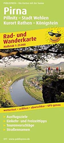 9783899200775: Rad- und Wanderkarte Pirna, Pillnitz - Stadt Wehlen - Kurort Rathen - Königstein 1 : 25 000: Mit Ausflugszielen, Einkehr- & Freizeittipps