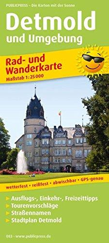Rad- und Wanderkarte Detmold und Umgebung 1 : 25 000: Mit Ausflugszielen, Einkehr- & ...