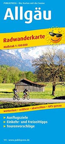 9783899201116: Radwanderkarte Allgäu 1 : 100 000: mit Ausflugszielen, Einkehr- & Freizeittipps, wetterfest, reissfest, abwischbar