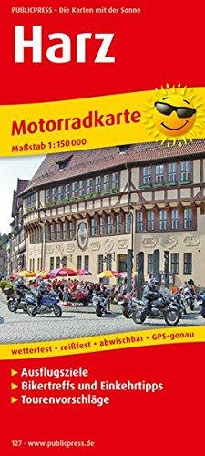 9783899201277: Motorradkarte Harz 1 : 150 000: Motorradkarte mit Ausflugszielen, Einkehr- & Freizeittipps und Tourenvorschlägen, wetterfest, reissfest, abwischbar, GPS-genau. 1:150000