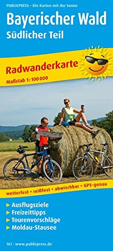 Bayerischer Wald (Südlicher Teil) 1 : 100 000 Radwanderkarte: Mit Ausflugszielen, Einkehr- &...