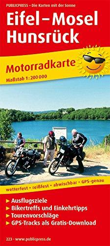 Motorradkarte Eifel 1 : 200 000: Mit Ausflugszielen, Einkehr- & Freizeittipps und Tourenvorschl...