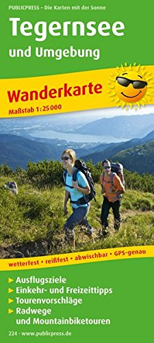 Tegernsee und Umgebung 1 : 25 000 Wanderkarte: mit Radwegen und Mountainbikerouten, Ausflugszielen,...