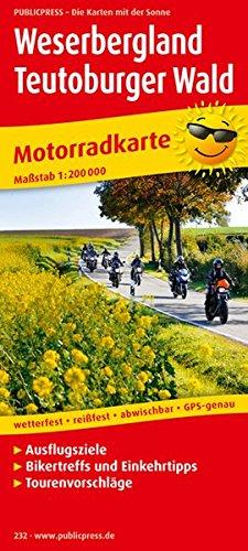 Motorradkarte Weserbergland - Teutoburger Wald 1 : 200 000: Mit Ausflugszielen, Bikertreffs, ...