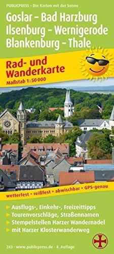 Rad- und Wanderkarte Goslar - Bad Harzburg - Ilsenburg - Wernigerode 1 : 50 000: mit Harzer ...