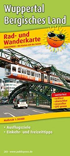 9783899202830: Rad- und Wanderkarte Wuppertal - Bergisches Land 1 : 50 000: Mit Ausflugszielen, Einkehr- & Freizeittipps, wetterfest, reissfest, abwischbar, GPS-genau