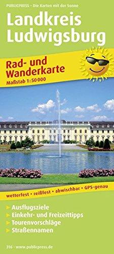 Rad- und Wanderkarte Landkreis Ludwigsburg 1 : 50 000: Mit Ausflugszielen, Einkehr- & ...