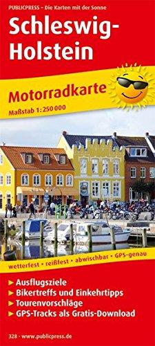 9783899203288: Schleswig-Holstein 1 : 250 000 Motorradkarte: Mit Ausflugszielen, Einkehr- & Freizeittipps und Tourenvorschlägen, GPS-genau