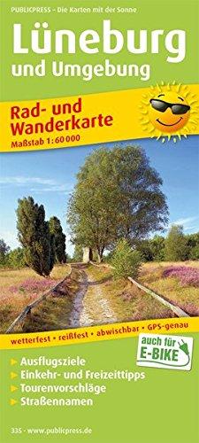Rad- und Wanderkarte Lüneburg und Umgebung 1 : 75 000: mit Ausflugszielen, Einkehr- & ...