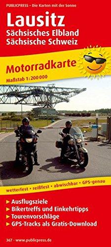 Motorradkarte Lausitz, Sächsisches Elbland - Sächsische Schweiz 1 : 200 000: Mit ...
