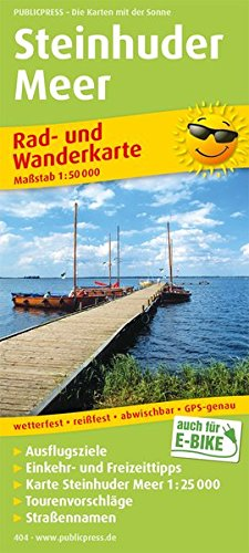Rad- und Wanderkarte Steinhuder Meer 1 : 50 000: Mit Ausflugszielen, Einkehr- & Freizeittipps, ...