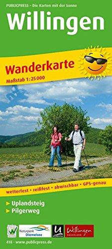 Willingen / Uplandsteig 1 : 25 000. Wanderkarte: Mit Wanderwegbeschreibungen und Hö...
