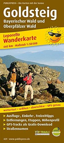 9783899204292: Wanderkarte Goldsteig, Bayerischer Wald und Oberpfälzer Wald 1 : 50 000: Mit Ausflugszielen, Einkehr- & Freizeittipps