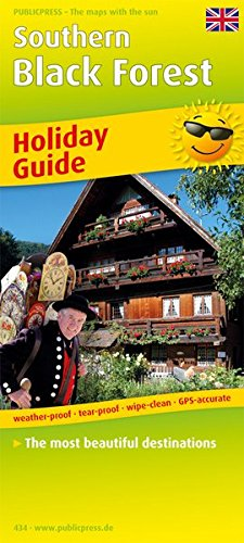 9783899204346: Southern Black Forest 1 : 170 000: Holiday Guide with the most beautiful destinations, weather-proof, tear-proof, wipe-clean, GPS-accurate. 1 : 170 000