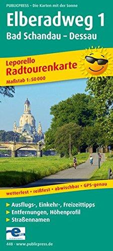 9783899204483: Elberadweg 1 448 Leporello Bicycle Hikin
