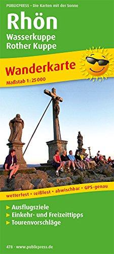 Wanderkarte Rhön, Wasserkuppe - Rother Kuppe 1 : 25 000: Mit Ausflugszielen, Einkehr- & ...