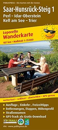 9783899204964: Saar-Hunsrück-Steig, Perl - Idar-Oberstein - Hermeskeil - Trier Wanderkarte 1 : 25 000: Mit Ausflugszielen, Einkehr- & Freizeittipps