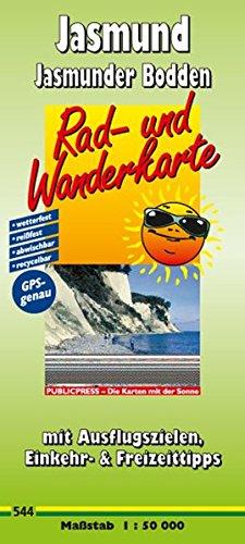 9783899205442: Rad- und Wanderkarte Jasmund, Jasmunder Bodden: mit Ausflugszielen, Einkehr- & Freizeittipps und Entfernungen, wetterfest, reißfest, abwischbar, ... wetterfest, reißfest, abwischbar, GPS-genau