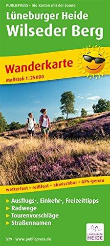 Wanderkarte Lüneburger Heide, Wilseder Berg 1:25 000: mit Ausflugszielen und Freizeittipps, ...