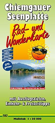 9783899205824: Rad- und Wanderkarte Chiemgauer Seenplatte 1 : 30 000: Mit Ausflugszielen, Einkehr- & Freizeittipps, wetterfest, rei�fest, abwischbar, recycelbar, GPS-genau