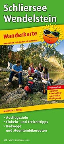 Wanderkarte Schliersee - Wendelstein 1 : 25 000: Mit Ausflugszielen, Einkehr- & Freizeittipps ...