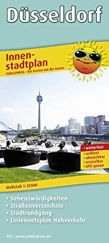 9783899206036: Düsseldorf 1 : 25 000 Innenstadtplan: mit Sehenswürdigkeiten, Straßenverzeichnis, Stadtrundgang und Liniennetzplan Nahverkehr