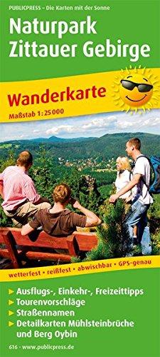 Naturpark Zittauer Gebirge Wanderkarte 1 : 25 000: Mit Ausflugszielen, Einkehr- & Freizeittipps...