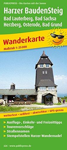 Wanderkarte Harzer BaudenSteig 1 : 30 000: Mit Ausflugszielen, Einkehr- & Freizeittipps, ...