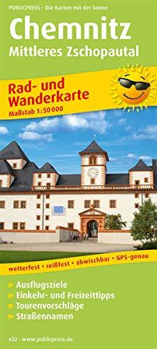 Mittleres Zschopautal 1 : 50 000. Rad- und Wanderkarte Chemnitz: Mit Ausflugszielen, Einkehr- &...