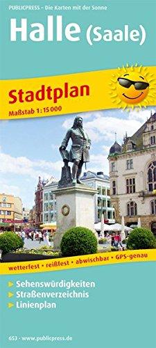 Halle (Saale) Stadtplan 1 : 15 000: