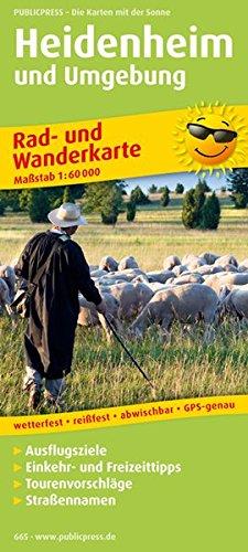 Heidenheim und Umgebung 1 : 60 000 Rad- und Wanderkarte: Mit Ausflugszielen, Einkehr- & ...