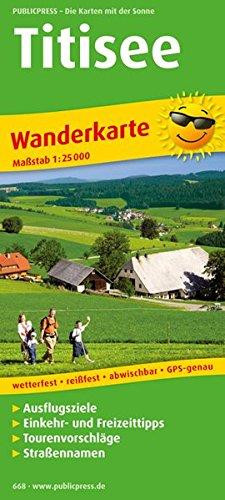 Titisee Wanderkarte 1 : 25 000: Mit Ausflugszielen, Einkehr- & Freizeittipps