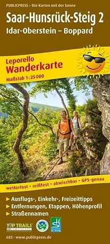 9783899206838: Saar-Hunsrück-Steig 02. Idar-Oberstein - Boppard Wanderkarte 1 : 25 000