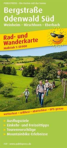 Rad- und Wanderkarte Bergstraße-Odenwald Süd 1 : 50 000