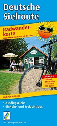 Deutsche Sielroute Radwanderkarte 1 : 50 000: Mit Ausflugszielen, Einkehr- & Freizeittipps