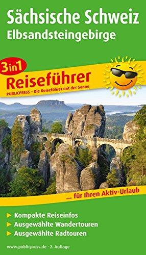 9783899208016: Sächsische Schweiz - Elbsandsteingebirge: Für Ihren Aktiv-Urlaub, 3in1, kompakte Reiseinfos, ausgewählte Rad- und Wandertouren, übersichtlicher Kartenatlas